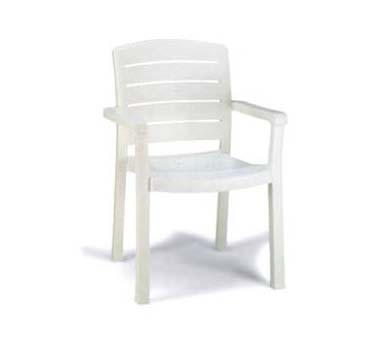 Grosfillex Acadia Classic Stacking Dining Armchair, One Dozen