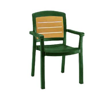 Grosfillex Aquaba Dining Armchair, One Dozen - 49453078
