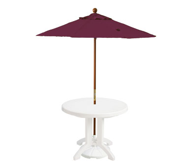 Grosfillex Wooden Market Umbrella 7 ft - 98942731