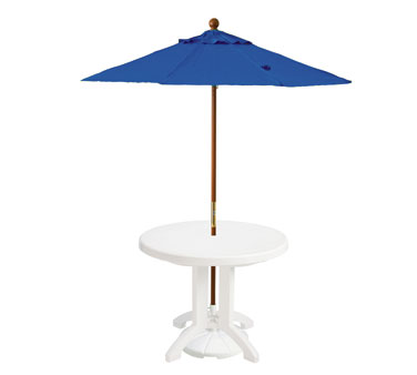 Grosfillex Wooden Market Umbrella 7 ft - 98949731