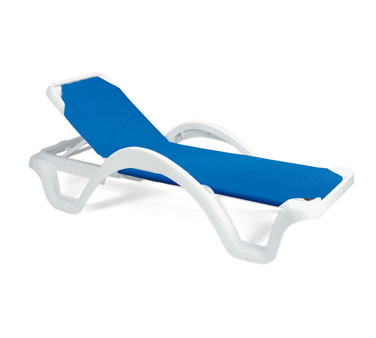 Grosfillex Catalina Sling Chaise with Arms