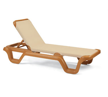 Grosfillex Marina Sling Chaise Lounge
