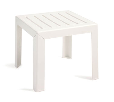 Grosfillex Bahia Exterior Low Table, White - CT052004