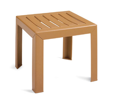 Grosfillex Bahia Exterior Low Table, Teakwood - CT052008
