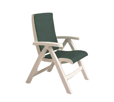 Grosfillex Jersey Midback Folding Sling Chair CT089004, Set of 2