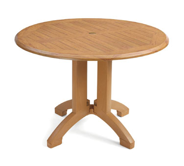 """Grosfillex Winston 42"""" Round Table - US240608, Set of 2"""