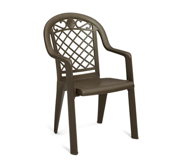 Grosfillex Savannah Highback Armchair US103102, Set of 20