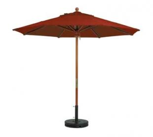 Grosfillex Wooden Market Umbrella 7 ft - 98948231