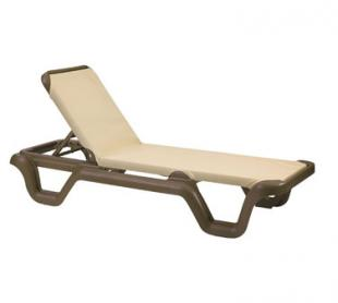 Grosfillex Marina Sling Chaise Lounge, Case of 14 - 99414137