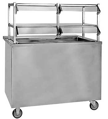 Hot Food Cafeteria Cold Table, Ice Cooled - CTI-46-BOS