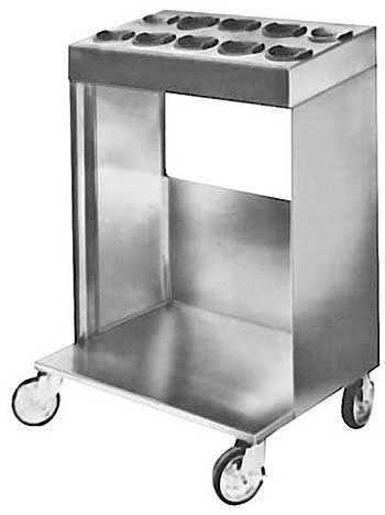 Hot Food Tray And Silver Cart - TSC
