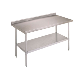 "John Boos Standard Stainless Steel Work Tables With 1-1/2"" Backsplash"