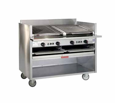 "Magikitch'n Coal Charbroiler 48"" wide - FM-SMB-648"