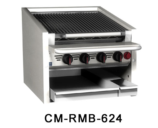 "Magikitch'n Radiant Charbroiler counter 60""  - CM-RMB-660CR"