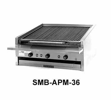 "Magikitch'n Coal Charbroiler 72"" wide - APM-SMB-672"