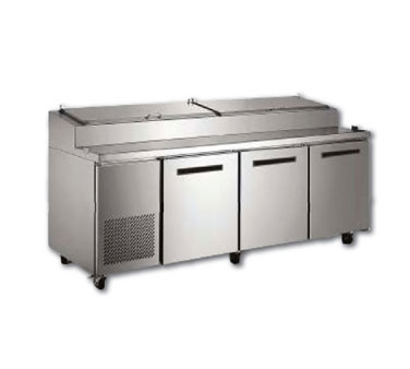 "MaxxCold X-Series 94"" Refrigerated Pizza Prep Table, 30.8 Cu. Ft. - MXCPP92"