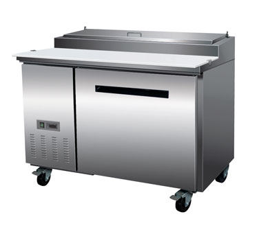 """MaxxCold X-Series 50"""" Refrigerated Pizza Prep Table, 12 Cu. Ft. - MXCPP50"""