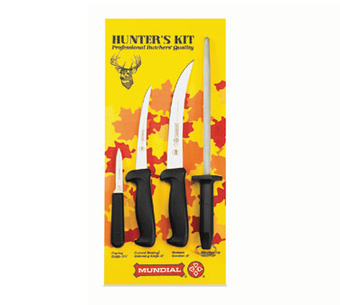 Mundial Hunter's Knife Kit With Black Handles - HS5600-4