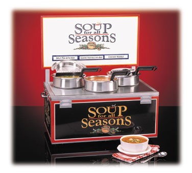Nemco Soup Warmer triple 4 qt. well w/header  - #6510-T4