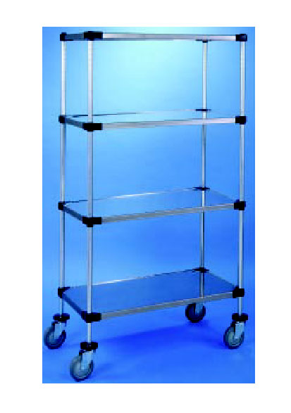 Nexel Shelving Stem Caster Truck 4 solid shelves - C1836RS2