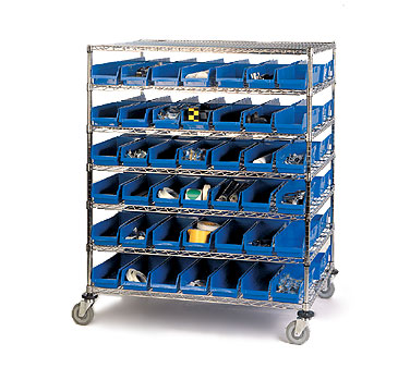 Nexel Shelving Bin Storage Unit mobile - 2448MBSB