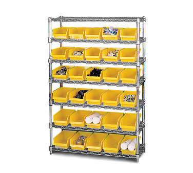 Nexel Shelving Bin Storage Unit stationary - 2436SBSB