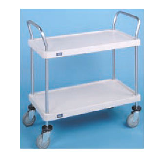 Nexel Shelving Utility Cart two solid plastic shelves - 1836P2SP