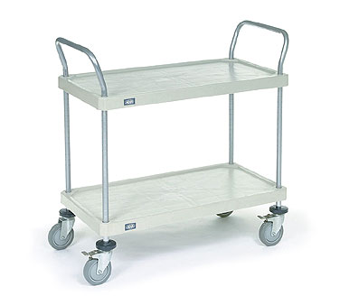 Nexel Shelving Utility Cart two solid plastic shelves - 2448R2SP