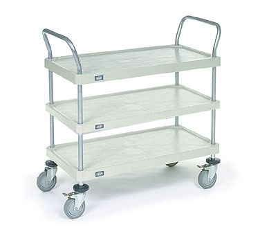 Nexel Shelving Utility Cart three solid plastic shelves - 2448P3SP