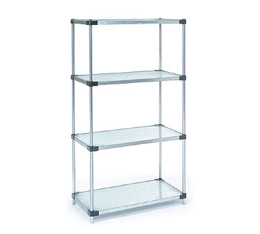 Nexel Starter Units with Galvanized Solid Shelves