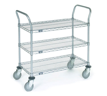Nexel Shelving Utility Cart three wire shelves - 2460R3N
