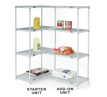 Nexel Shelving Add-On Shelving Unit wire - A24248Z5