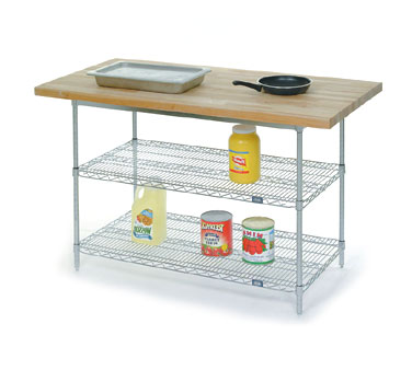 Nexel Work Center With Wire Shelving