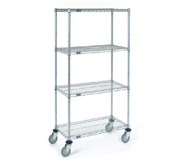 Nexel Shelving Stem Caster Truck 4 wire shelves - C2448RZ
