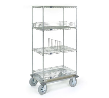 Nexel Mobile Shelving Dolly Trucks / Carts with Wire Shelves and Wheels