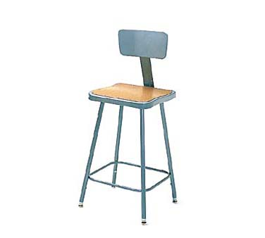 "Nexel Shelving Steel Stool adjustable height 18"" - HBSB18"