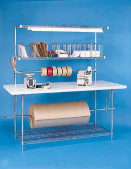 Nexel Shelving Packaging Work Station w/Laminate Top plastic - PB7232