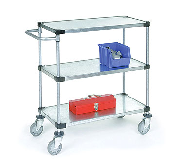 Nexel Shelving Carts with Solid Galvanized Steel Shelves