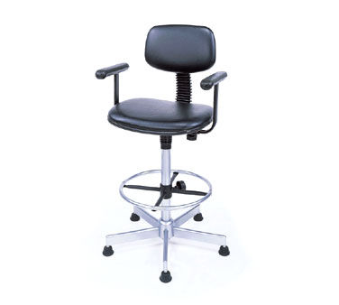 Nexel Shelving Swivel Chair vinyl - SCF27BK