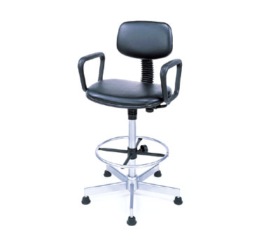 Nexel Shelving Swivel Chair vinyl - SCL27BK