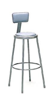 "Nexel Shelving Steel Stool adjustable height 24"" - UPSB24"