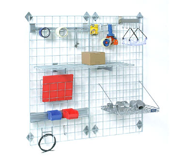 "Nexel Shelving Space Wall System Wire Grid Panel 48"" - WG4860G"