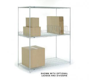 Nexel Shelving Add-On Extra Wide Bulk Rack wire - A36608C