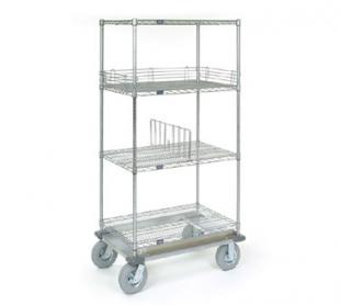 Nexel Shelving Dolly Truck 4 wire shelves - D2436NS