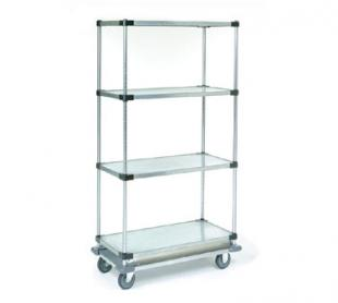 Nexel Shelving Dolly Base Truck 4 solid shelves - D2448PS4