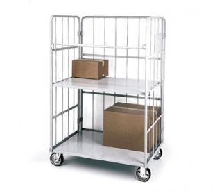 Nexel Shelving Nest-Away Folding Truck 16 gauge tubular steel frame folds and nests - NTF1200