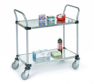 Nexel Shelving Utility Cart two solid shelves - 2448P2SS
