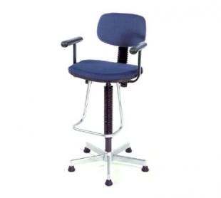 Nexel Shelving Pneumatic Production Stool with adjustable T-arms - PS17ABL