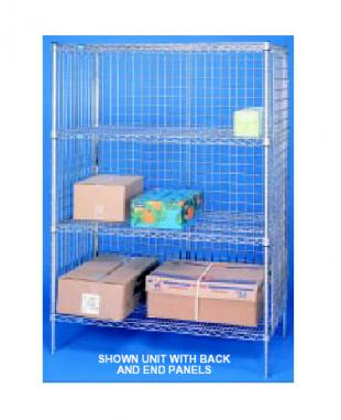 Nexel Shelving Security Enclosure Panel Set 2 sides & 1 back - SP2460Z