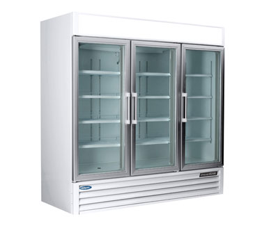 Nor-Lake AdvantEDGE Refrigerated Merchandiser, Three-section - NLGR70H-B